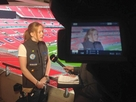 Alice Powell receives TV interview as a top female athlete!