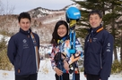 The interview with Ski Cross Skier, Akane Atomura, at Shiga-Kogen was broadcast.